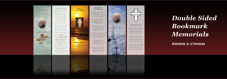 Double Sided Bookmark Memorials
